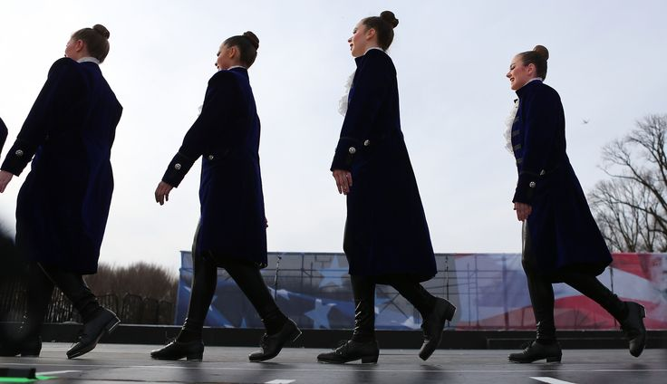 Members of the American Tap Company walk offstage after performing at the Voices for the People inaugural musical event on January 19, 2017 in Washington, DC. President-elect Donald Trump will be sworn in as the 45th U.S. president on January 20. (Photo by Mario Tama/Getty Images)  via @AOL_Lifestyle Read more: http://www.aol.com/article/news/2017/01/20/watch-live-donald-trumps-presidential-inauguration/21658917/?a_dgi=aolshare_pinterest#fullscreen