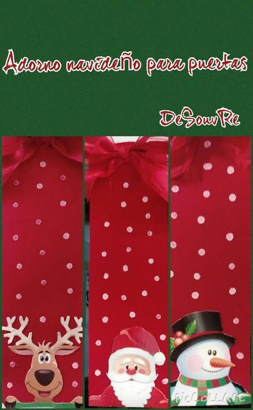 The 25 best adornos navide os para puertas ideas on for Puertas decoradas de navidad trackid sp 006