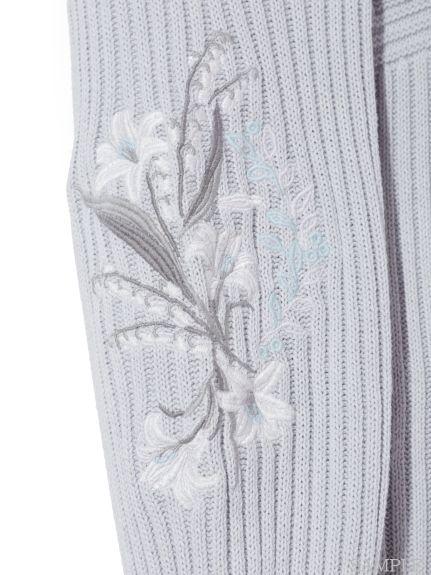 スリーブエンブロイダリーニットワンピース(ニットワンピース)|snidel(スナイデル)|ファッション通販|ウサギオンライン公式通販サイト