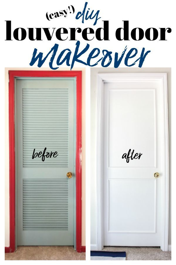 Diy Louvered Closet Door Makeover How To Cover Doors Doormakeover Closetmakeover Closetdoormakeover Louvereddoors Easydiy Diyproject