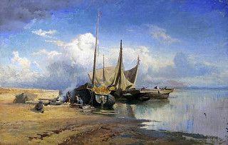 Fedor Vasilev-(1850-1873)-On the Volga River,1870  (2)