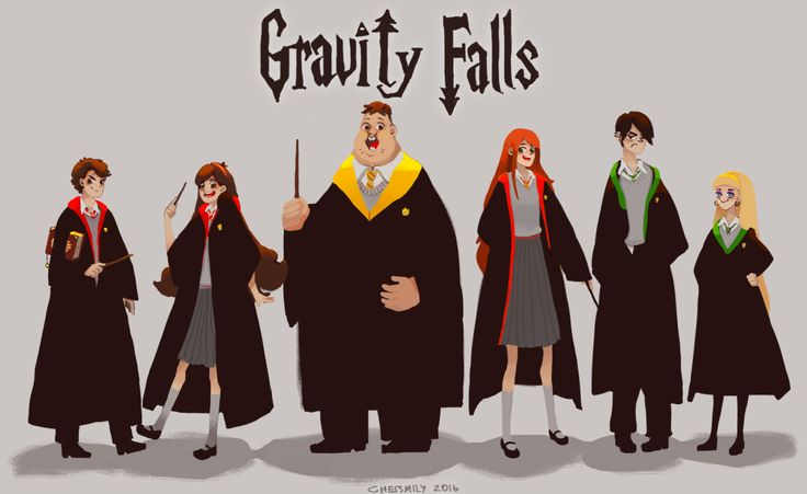 CHESSMILY | Gravity Falls Hogwarts AU character chart *edit:...  I think Dipper should be a Ravenclaw, Mabel a Hufflepuff and Wendy a Slytherin. Just saying...