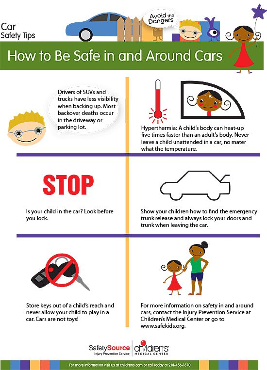 car safety tips for kids infographic