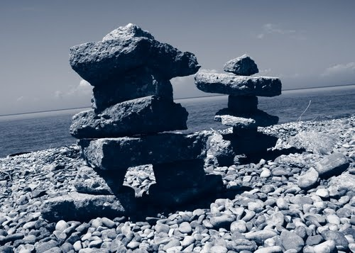 Goderich Ontario: Inukshuks on the Shores of Lake Huron