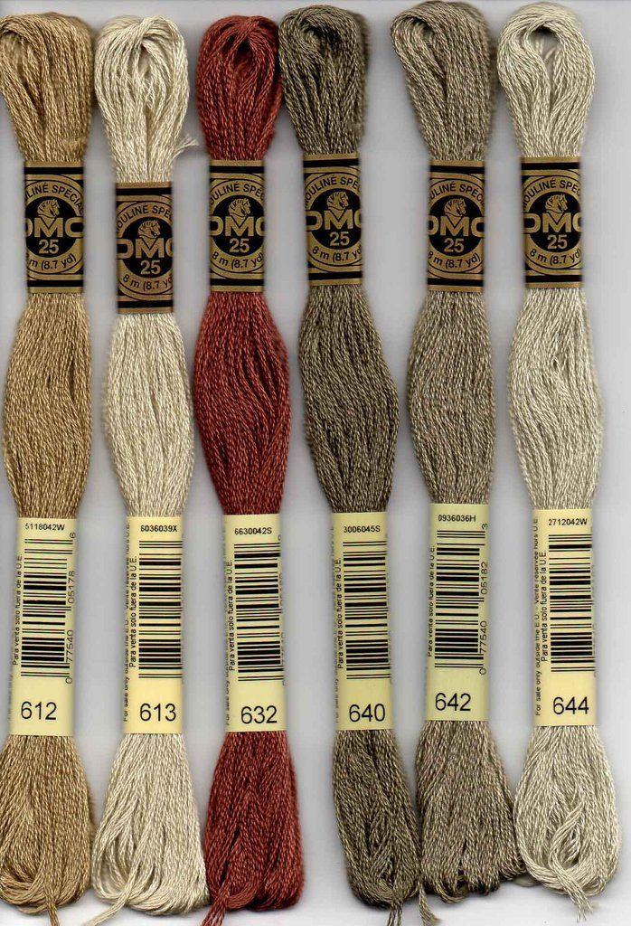 DMC 844 deep grey brown stranded floss embroidery thread brand new