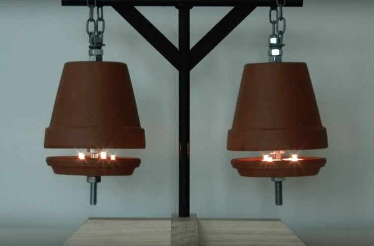 this flower pot heater will keep you warm and save you. Black Bedroom Furniture Sets. Home Design Ideas