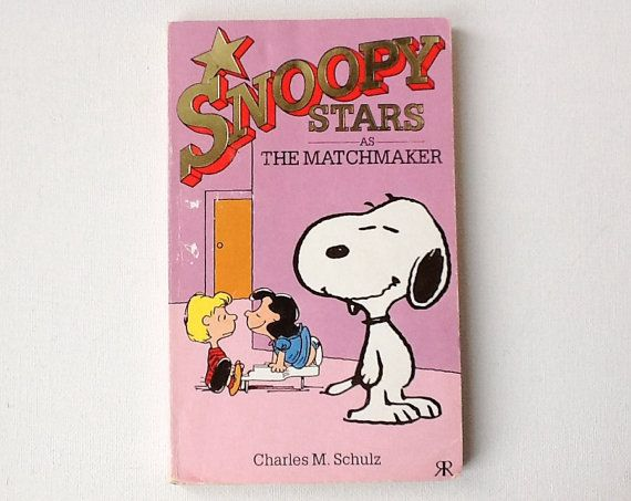 Vintage Snoopy Book, Snoopy Stars as The Matchmaker, Peanuts Cartoons, Charles M Schulz, Paperback, Published by Ravette, 1988, 00769