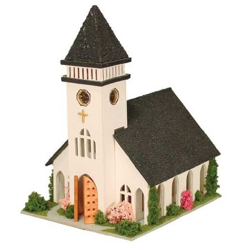 "Dollhouse Miniature 1/144"" Scale Country Church Kit By"