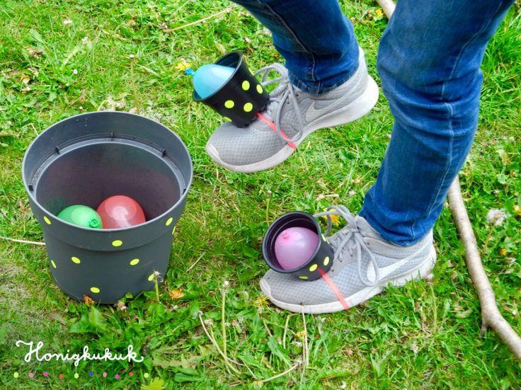Upcyclingideen für den Kindergeburtstag: Wasserbomben-Wettlauf
