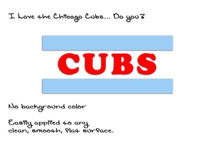 Chicago Cubs Flag Sticker