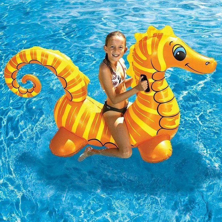 New Seahorse Inflatable Pool Toy Float In The Sun Shine