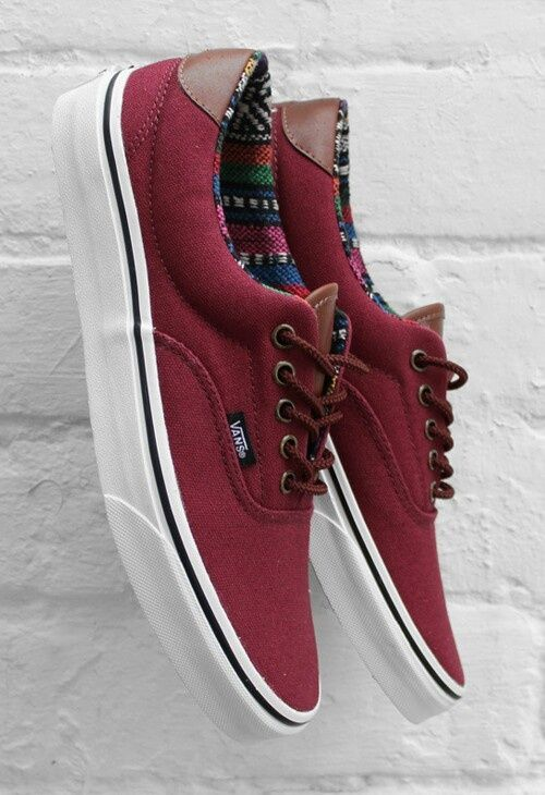 Maroon with brown leather