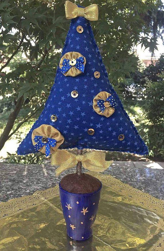 Guarda questo articolo nel mio negozio Etsy https://www.etsy.com/it/listing/565089023/natale-albero-tessuto-blu-con