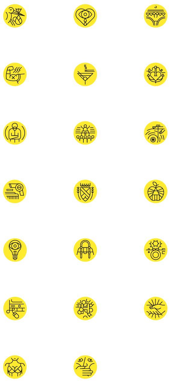 Be magazine pictograms