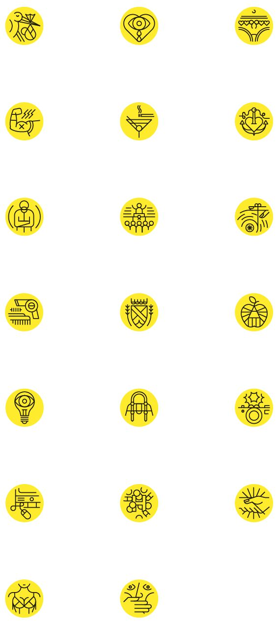 Be magazine pictograms by LA TIGRE, via Behance