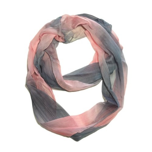 Elegant Two Tone Infinity Circle Fashion Scarf - Different Colors Available
