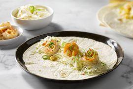 Foto van Taco's met scampi en koolsla