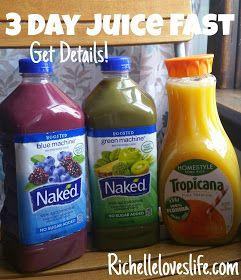 Richelle Loves Life: 3-Day Naked Juice Fast - PART 1 - Details & Plan