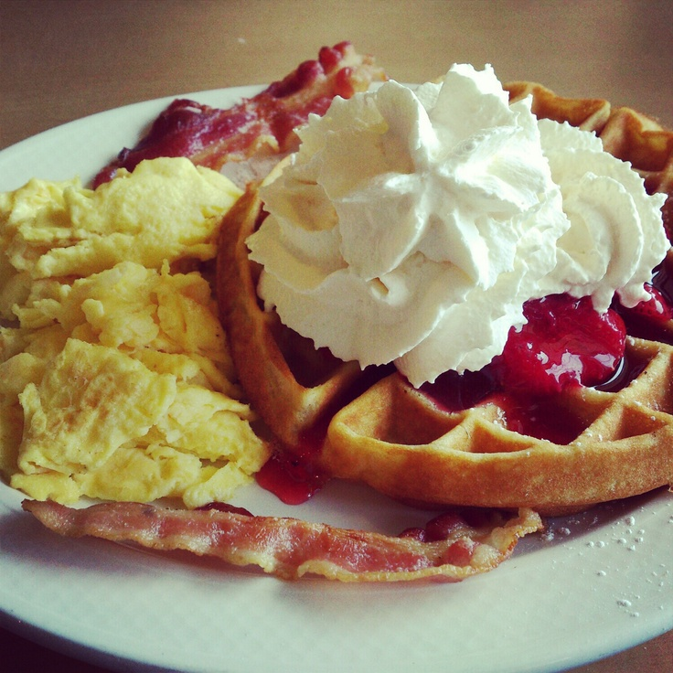 Strawberry waffles at ihop