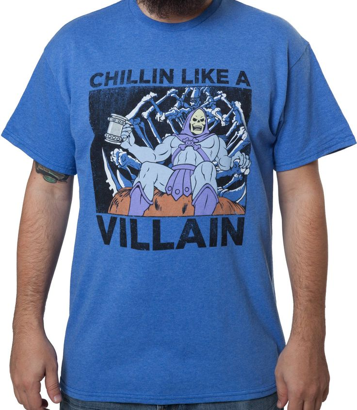 """""""Chillin Like a Villain"""" Check out this awesome #heman #skelator t-shirt design! Buy it now from 80sTees @ http://buff.ly/1ErtZXv That's SO Geekin' Awesome! http://www.sogeekinawesome.com"""