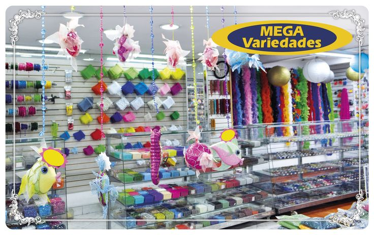 Almacén Mega Variedades, ubicado en la Carrera 51 # 45 - 42, Medellín (cercano a la estación del metro: San Antonio) / Teléfono: (4) 511 68 28  Navidad, insumos en promoción, herramientas para bisutería, cintas, acrílicos, plumas, artículos de decoración, accesorios y más…