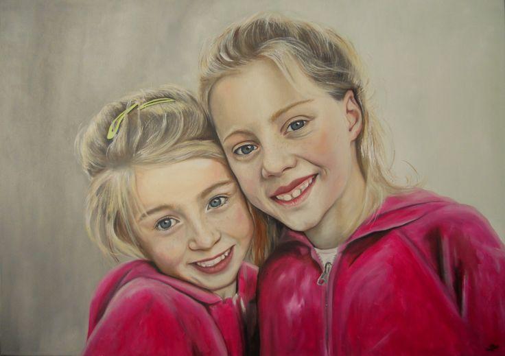Portréty na zakázku olej na plátně 70x100cm