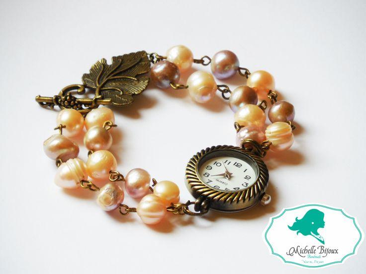 Ceas Pietre semipretioase: perle de cultura Inchizatoare tip frunza Poate fi realizat si pe alte culori
