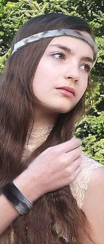Unique sealskin hairband and wristband