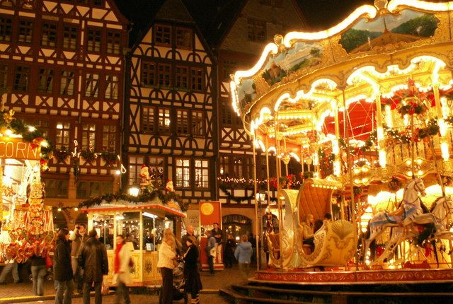 Weihnachtsmarkt Frankfurt, Germany There's no better way to experience the festivities of the holidays than Christmas markets (Weihnachtsmarkt) in Germany, and Frankfurt's is particularly beautiful.