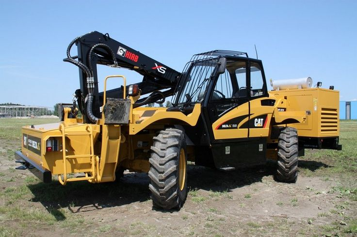 """""""We designed this pipe welding kit on a Cat TH360 to be used as an emergency machine.  This 4WD  tractor can go anywhere on the job-site very fast with a top speed of 32 km/h.""""  Pinned from Delta heavy industries."""