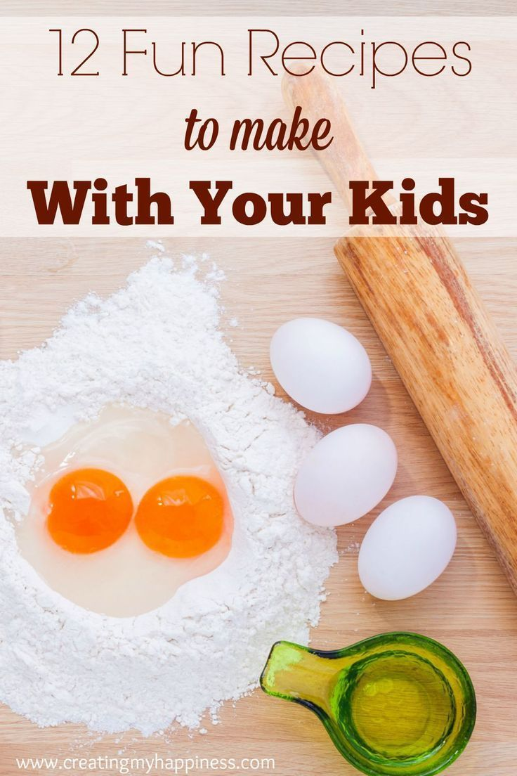 Cooking is a great family activity. Take a peek at these 12 recipes to make with kids and invite your little ones into the kitchen!