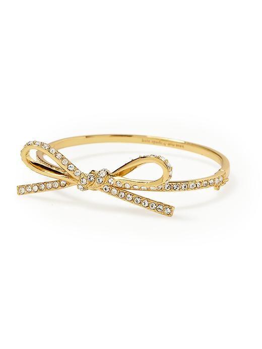 Kate Spade Skinny Mini Bow Bracelet $88 (as seen on Bedknobs & Baubles)    Want!!
