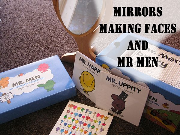 Using mirrors and  Mr Men to teach emotions.... fantastic idea!