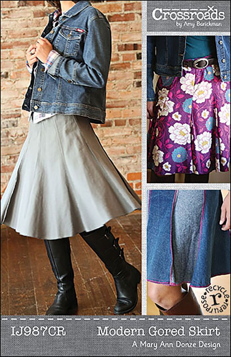 Indygo Junction IJ987CR Modern Gored Skirt sewing pattern