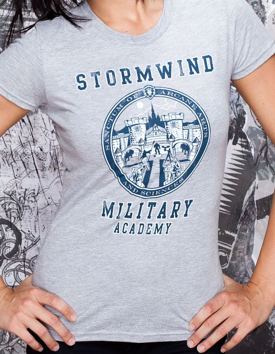 World of Warcraft Stormwind Military Academy Women's Tee - Clothing Inspired by Video Games & Geek Culture