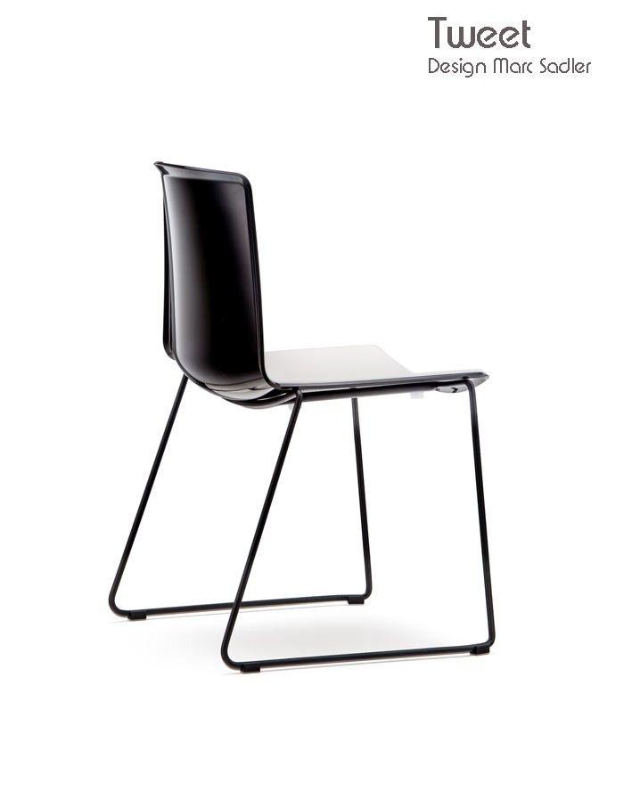 Chaise empilable bicolore TWEET 897,  Designer Marc Sadler