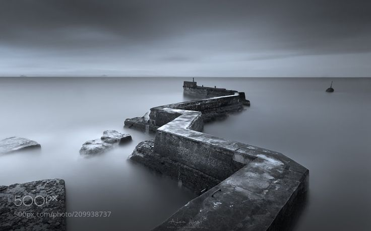 Five Minutes Before Dawn - I spent a few days exploring a beautiful part of the Scottish East coast. Many lovely fishing villages and fantastic shoreline geology to explore. I awoke early one morning to look at this fascinating harbour breakwater. This long exposure was taken in the calm air before dawn. Thanks for your visit and support. Let me know what you think... Like my work? Have a look at my updated website and connect...