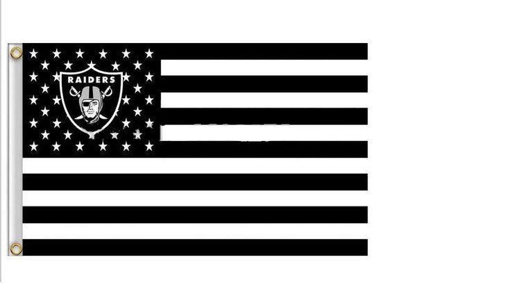 Oakland Raiders US NFL Flag