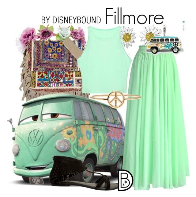 Fillmore by leslieakay on Polyvore featuring polyvore, fashion, style, Chicwish, Seychelles, Vintage Addiction, Daisy Jewellery, Aurélie Bidermann, Charlotte Russe, disney, disneybound and disneycharacter
