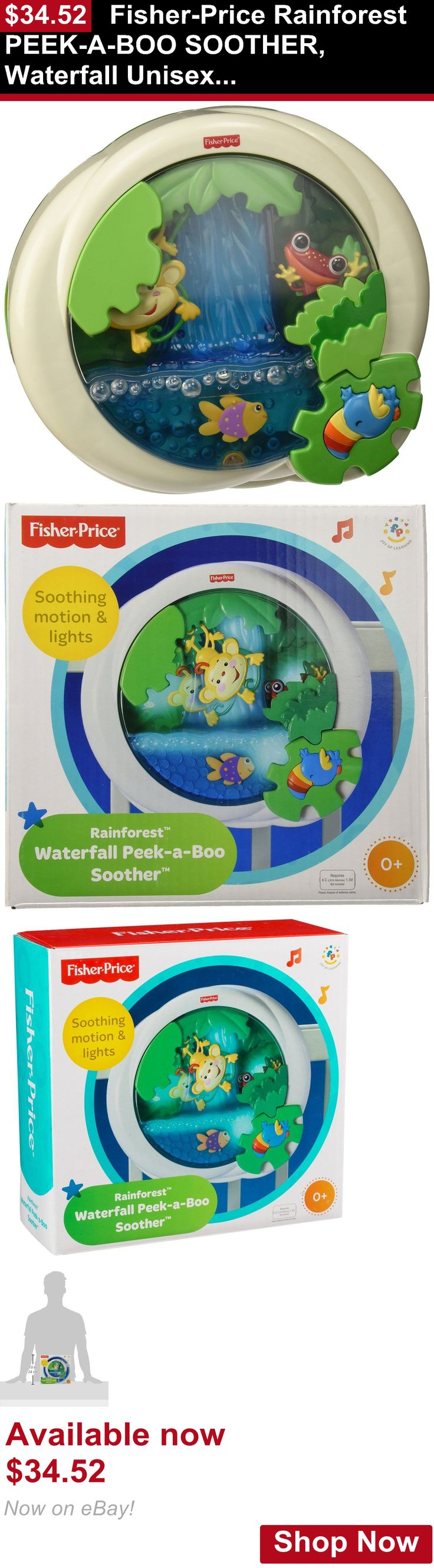 Crib Toys: Fisher-Price Rainforest Peek-A-Boo Soother, Waterfall Unisex Crib Toy, Bcy33 BUY IT NOW ONLY: $34.52