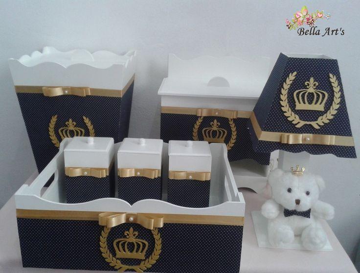 Kit higiene Príncipe com coroa e louro