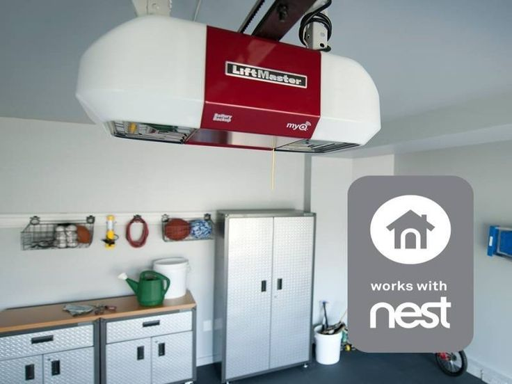 The Nest Thermostat system works with LiftMaster's MyQ smart home technology. Why use two apps when you can now use one?