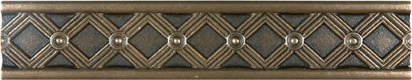 Kairos 1.25-inch x 6-inch Metal Border Tile in Cast Bronze