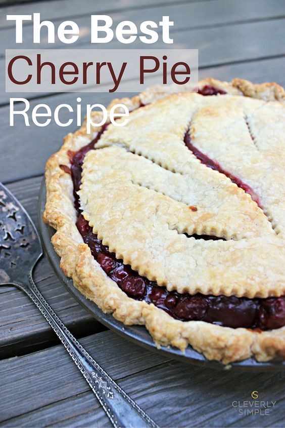 This is the The Best Cherry Pie Recipe!  It's Easy, homemade filling can be made from fresh or canned cherries.  You won't regret making this pie from scratch!  So good!