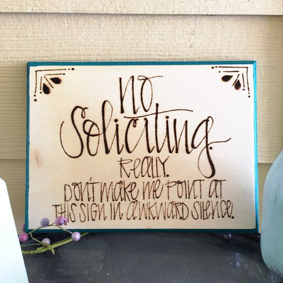 No soliciting sign / wood burned sign / no soliciting / wood