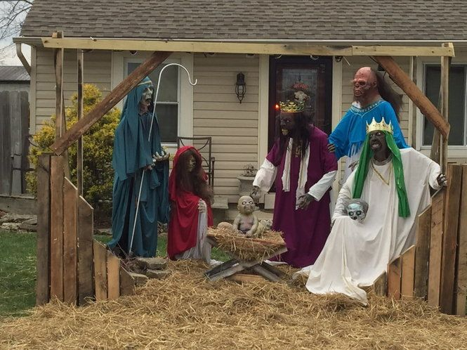 "Zombie Nativity scene causes outcry. Because nothing says ""Happy Holidays -- let's terrify the local kids"" like undead wise men."