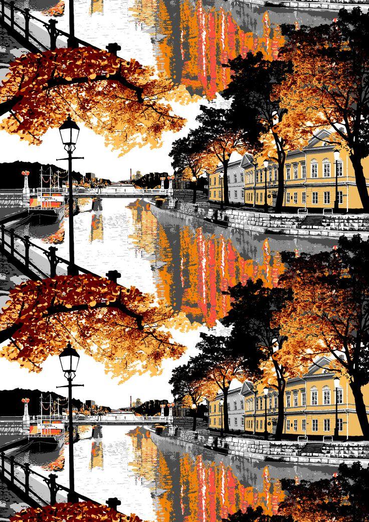 Aurajoki (orange) - By Riina Kuikka