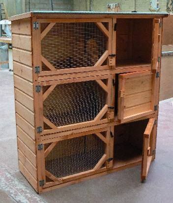 Single Double & Triple Rabbit Hutches (HappyHutch.co.uk) I like this for my bunnies