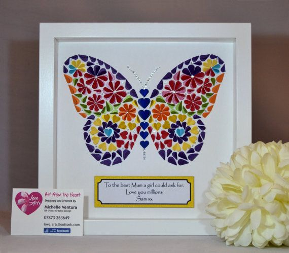 Framed butterfly picture created from 3D by LoveArtsbyMichelle