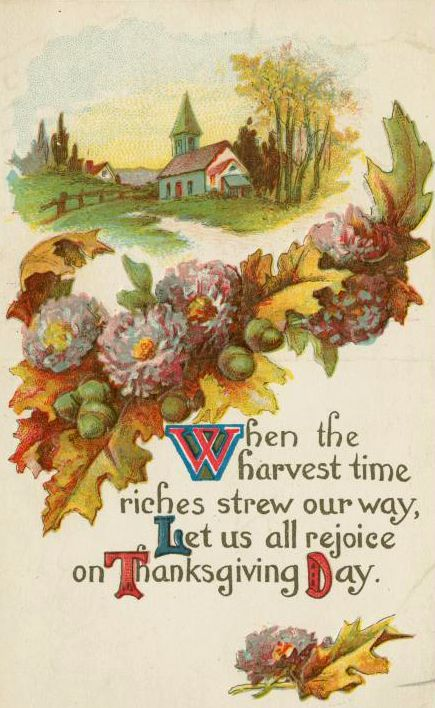 Vintage Thanksgiving Postcard Images: